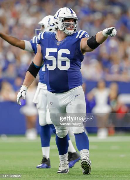Quenton Nelson of the Indianapolis Colts is seen during the game against the Atlanta Falcons at Lucas Oil Stadium on September 22 2019 in...