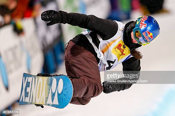 Querait Castellet of Spain takes 2nd place during the FIS Snowboard World Championships Men's and Women's Halfpipe on January 17 2015 in Kreischberg...