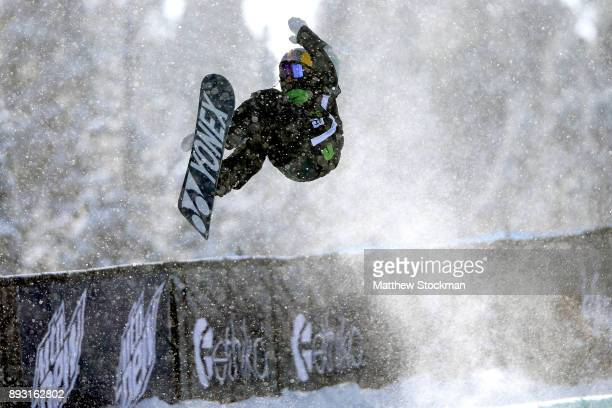 Queralt Castellet of Samoa competes in Women's Pro Snowboard Superpipe Qualification during Day 2 of the Dew Tour on December 14 2017 in Breckenridge...