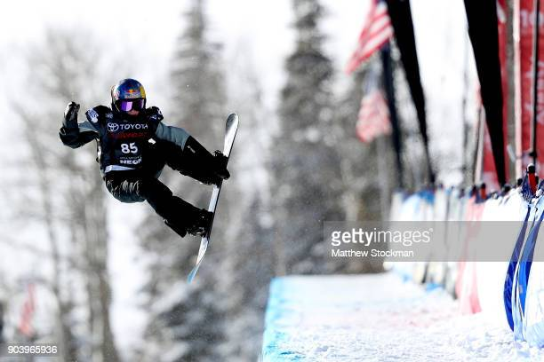Queralt Castellet of Spain competes in qualifying for the Ladies' Snowboard Halfpipe final during the Toyota US Grand Prix on January 11 2018 in...
