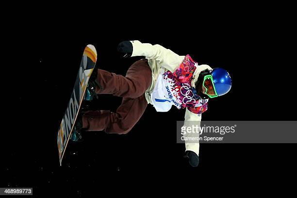 Queralt Castellet of Spain competes in the Snowboard Women's Halfpipe Finals on day five of the Sochi 2014 Winter Olympics at Rosa Khutor Extreme...