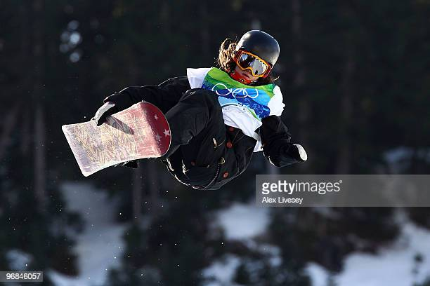Queralt Castellet of Spain competes in the women's snowboard halfpipe qualification on day seven of the Vancouver 2010 Winter Olympics at Cypress...