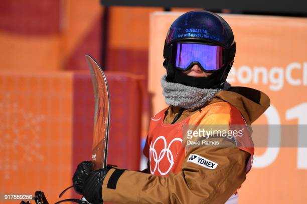 Queralt Castellet of Spain looks on during the Snowboard Ladies' Halfpipe Final on day four of the PyeongChang 2018 Winter Olympic Games at Phoenix...