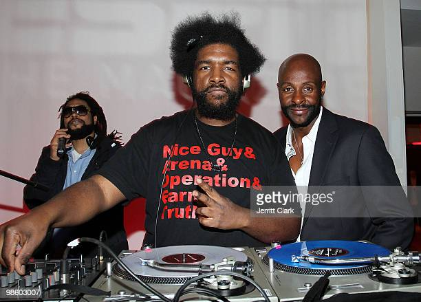 Queslove and Jerry Rice attend the 7th Annual ESPN The Magazine PreDraft Party at Espace on April 21 2010 in New York City