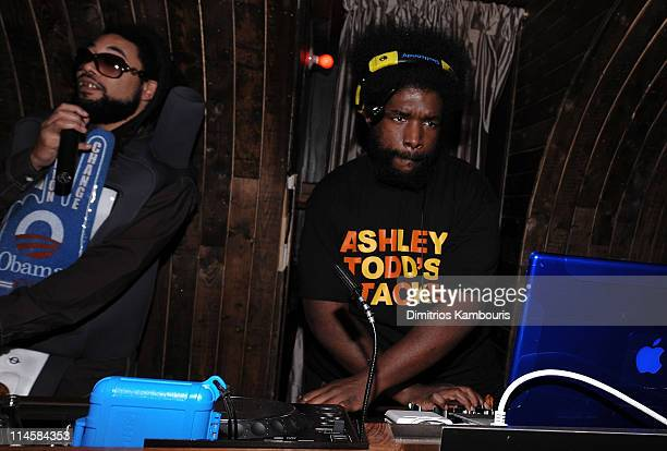 DJ Quest Love attends Absolut 100 and Heidi Klum's Halloween Party at 1 Oak on October 31 2008 in New York City