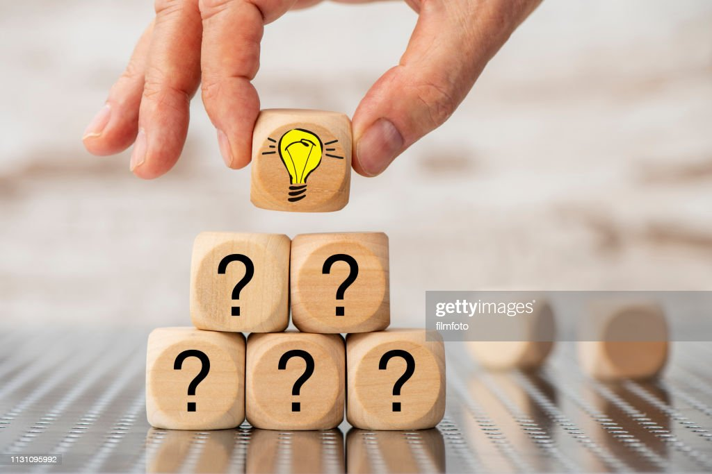Question and answer as teamwork : Stock Photo