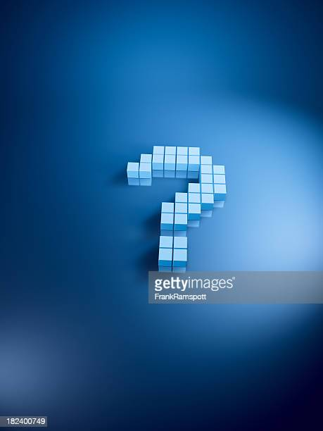 Question Mark Blue Cubes Vertical
