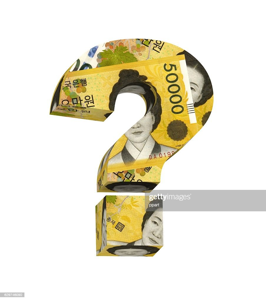 Question mark from korean won bill isolated over white stock photo question mark from korean won bill isolated over white stock photo buycottarizona