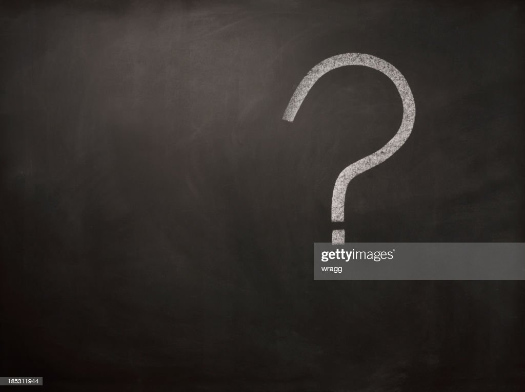 Question Mark on a Blackboard : Stock Photo