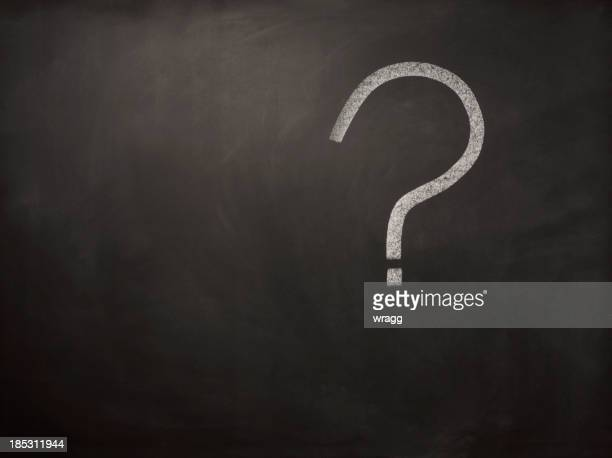 Question Mark on a Blackboard