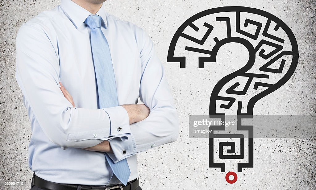 question mark with labirynth : Stock Photo