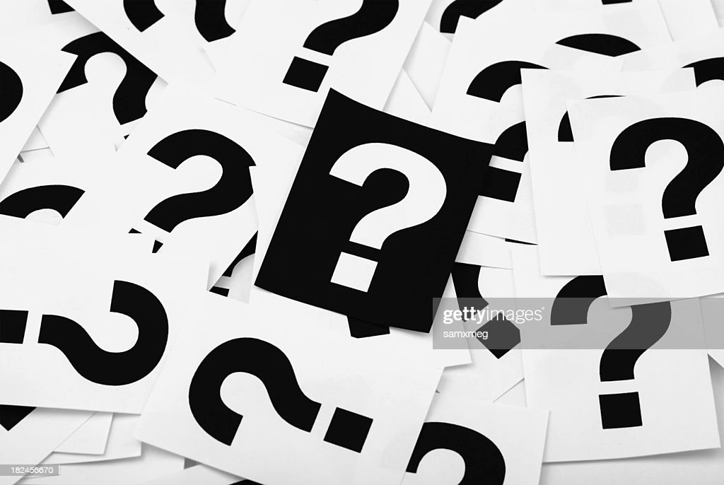 question marks : Stock Photo