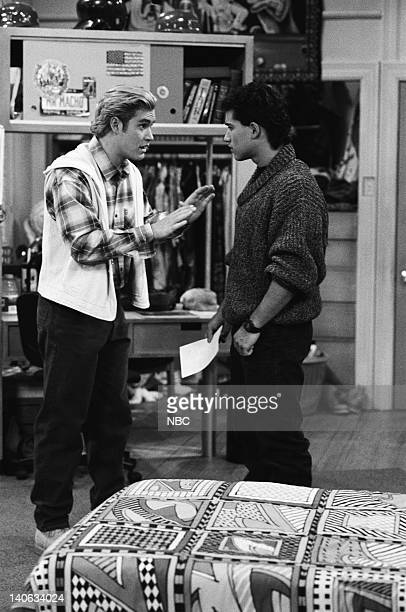 YEARS 'A Question of Ethics' Episode 14 Air Date Pictured MarkPaul Gosselaar as Zack Morris Mario Lopez as AC Slater Photo by Alice S Hall/NBCU Photo...