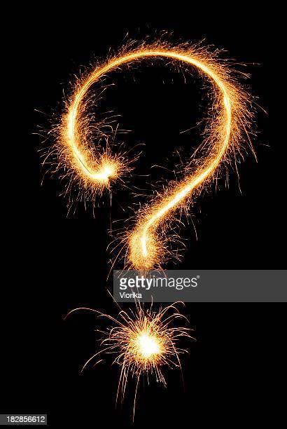 Question sign (sparkler)