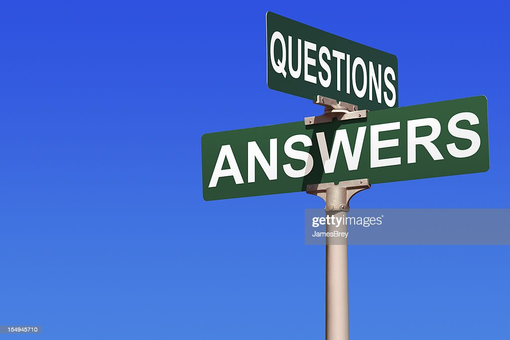 Questions & Answers Street Sign : Stock Photo