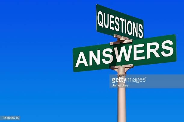 questions & answers street sign - q&a stock pictures, royalty-free photos & images