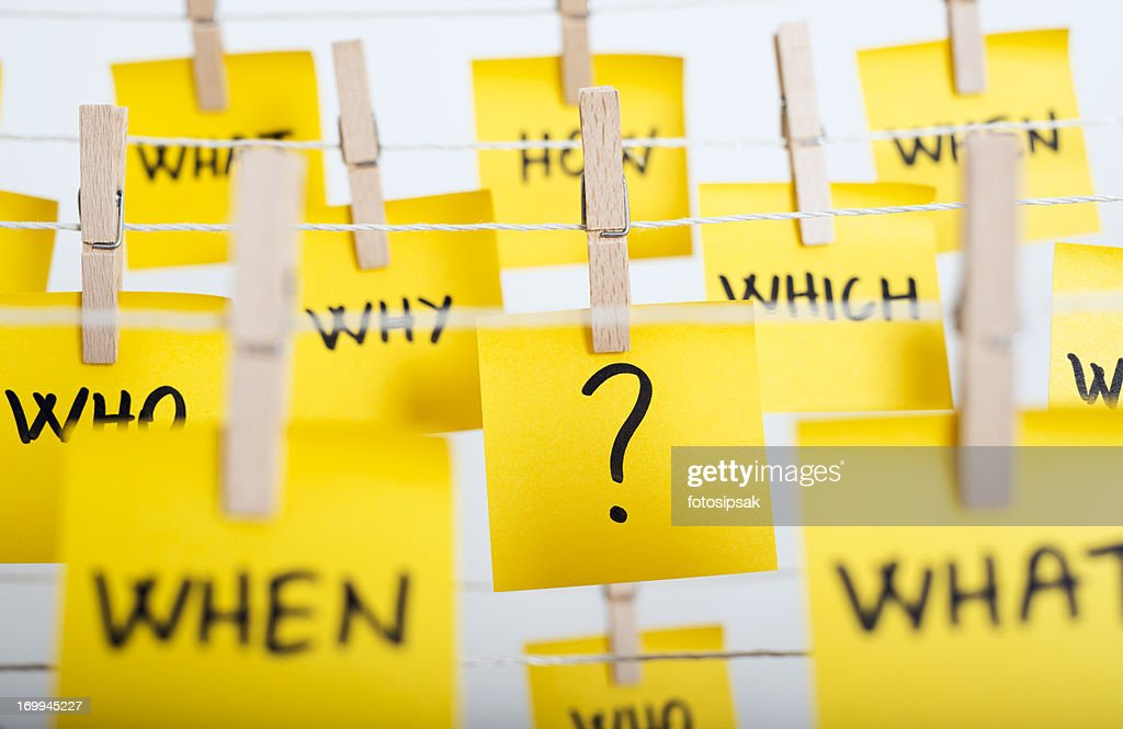 questions : Stock Photo