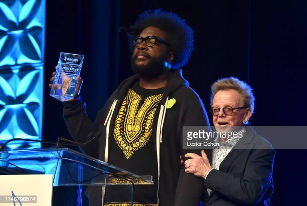 Questlove and ASCAP President and Chairman Paul Williams speak onstage during 'Creative Quest Questlove in Conversation with Paul Williams' at The...