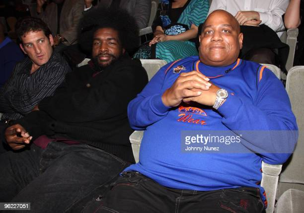 Questlove and Big Bank Hank attend the VH1 Rock Docs screening of Soul Train The Hippest Trip In America at The Paley Center for Media on January 27...