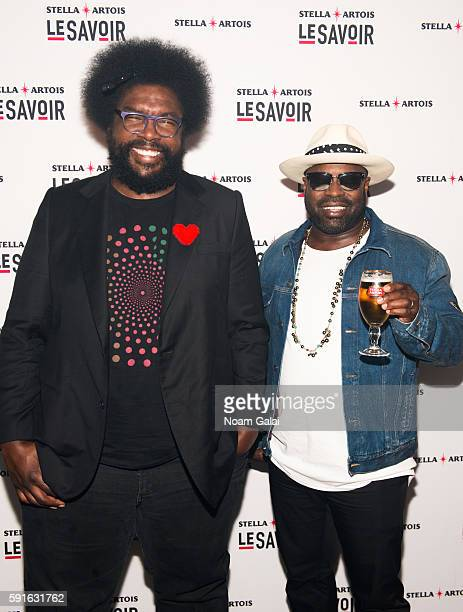 Questlove and Black Thought of The Roots attend the Le Savoir multisensory dining experience at Skylight Clarkson SQ on August 17 2016 in New York...