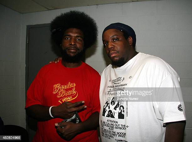 QuestLove and DJ Evil Dee during 9th Annual Black August Hip Hop Benefit Concert at BB Kings in New York City New York United States