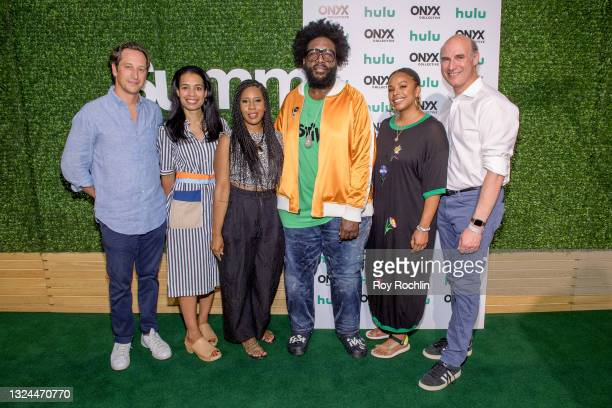 """Questlove and guests attend Questlove's """"Summer Of Soul"""" screening & live concert at Marcus Garvey Park in Harlem on June 19, 2021 in New York City."""
