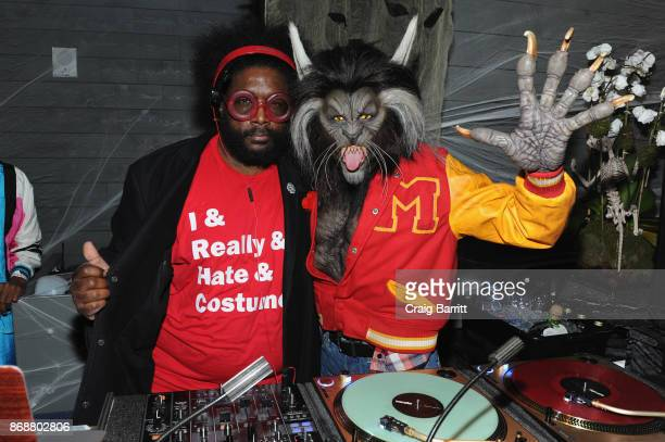 Questlove and Heidi Klum attend Heidi Klum's 18th Annual Halloween Party sponsored by Party City and SVEDKA Vodka at Magic Hour at Moxy Times Square...