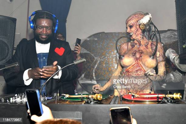 Questlove and Heidi Klum attend Heidi Klum's 20th Annual Halloween Party presented by Amazon Prime Video and SVEDKA Vodka at Cathédrale New York on...
