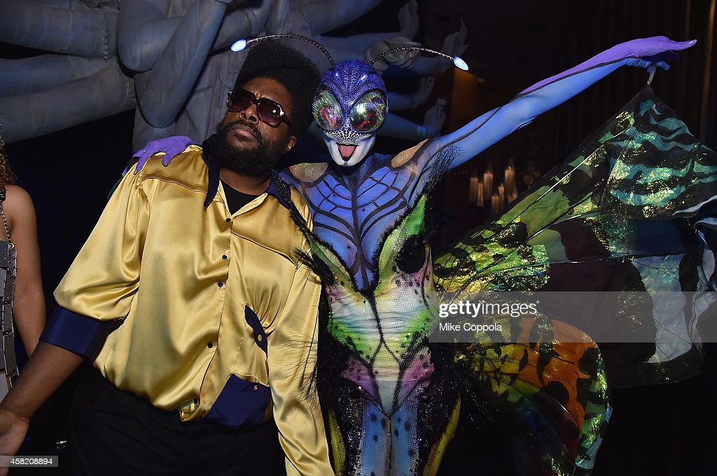 Questlove and Heidi Klum attend Moto X presents Heidi Klum's 15th Annual Halloween Party sponsored by SVEDKA Vodka at TAO Downtown on October 31, 2014 in New York City.