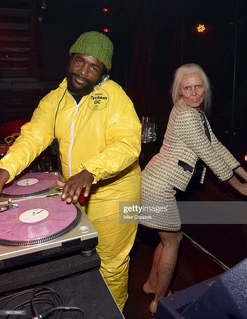Questlove (L) and Heidi Klum attend Shutterfly Presents Heidi Klum's 14th Annual Halloween Party sponsored by SVEDKA Vodka and smartwater at Marquee on October 31, 2013 in New York City.