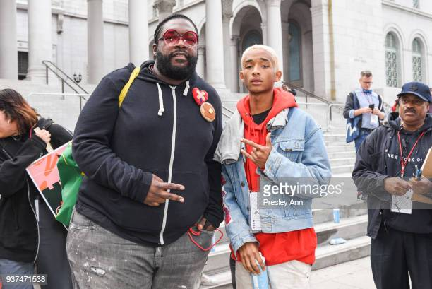 Questlove and Jaden Smith attend March For Our Lives Los Angeles on March 24 2018 in Los Angeles California