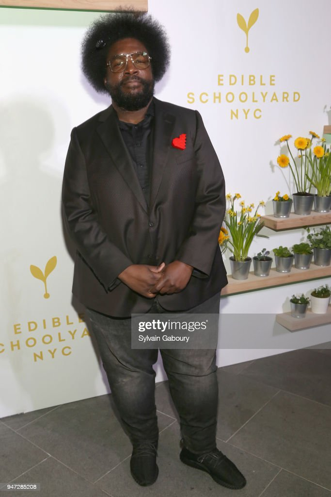 Questlove attends Edible Schoolyard NYC 2018 Spring Benefit at 180 Maiden Lane on April 16, 2018 in New York City.