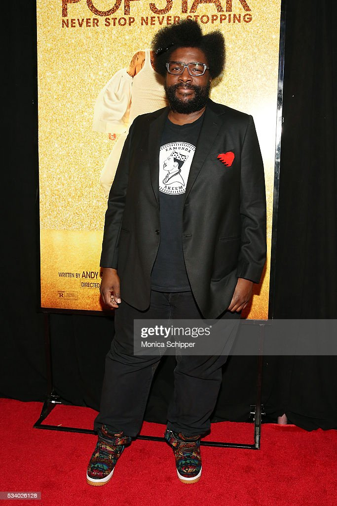 Questlove attends 'Popstar: Never Stop Never Stopping' New York Premiere at AMC Loews Lincoln Square 13 theater on May 24, 2016 in New York City.