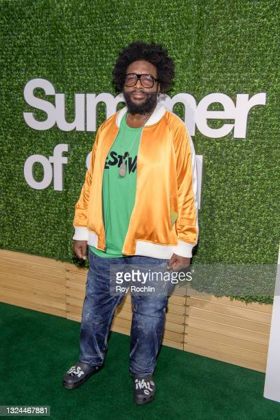 """Questlove attends Questlove's """"Summer Of Soul"""" screening & live concert at Marcus Garvey Park in Harlem on June 19, 2021 in New York City."""