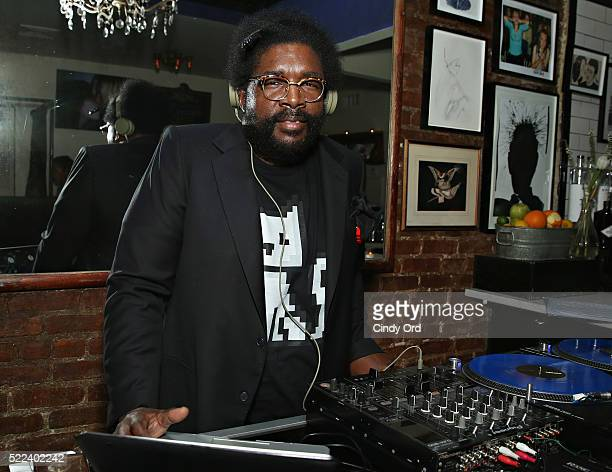 Questlove attends the 2016 Tribeca Film Festival after party for Vincent N Roxxy at Black Market on April 19 2016 in New York City