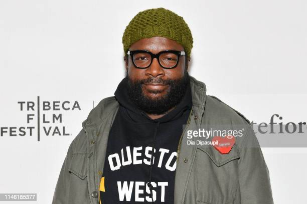 Questlove attends Tribeca Talks Storytellers Questlove with Boots Riley during the 2019 Tribeca Film Festival at Spring Studios on April 30 2019 in...