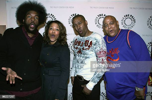 Questlove Danyel Smith Tyrone Proctor and Big Bank Hank attend the VH1 Rock Docs screening of Soul Train The Hippest Trip In America at The Paley...