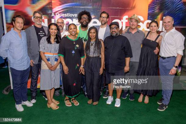 """Questlove, Dave Sirulnick, Jen Isaacson and Jon Kamen and more guests attend Questlove's """"Summer Of Soul"""" screening & live concert at Marcus Garvey..."""