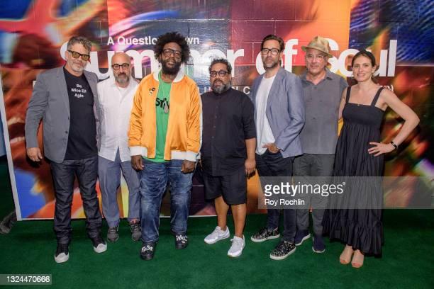 "Questlove, Dave Sirulnick, Jen Isaacson and Jon Kamen attends Questlove's ""Summer Of Soul"" screening & live concert at Marcus Garvey Park in Harlem..."