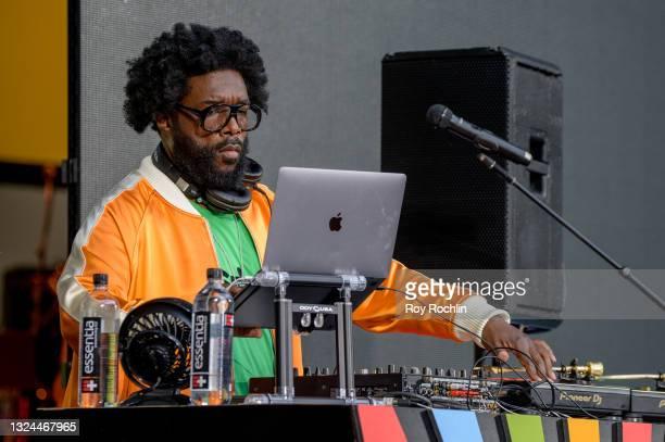"Questlove DJs during Questlove's ""Summer Of Soul"" screening & live concert at Marcus Garvey Park in Harlem on June 19, 2021 in New York City."