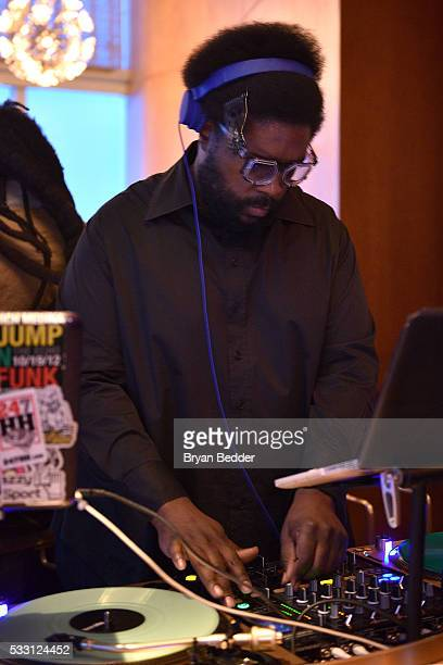 Questlove DJs the Vulture Festival Opening Night Party sponsored by DirecTV at The Top of The Standard on May 20 2016 in New York City