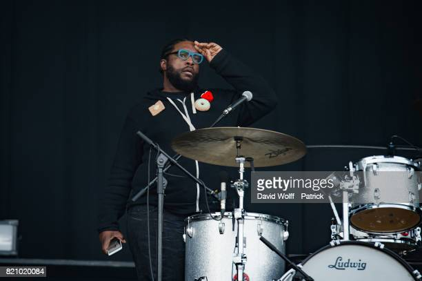 Questlove from The Roots performs during first Lollapalooza in France at Hippodrome de Longchamp on July 22 2017 in Paris France