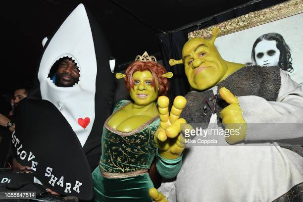 Questlove Heidi Klum and Tom Kaulitz attend Heidi Klum's 19th Annual Halloween Party presented by Party City and SVEDKA Vodka at LAVO New York on...