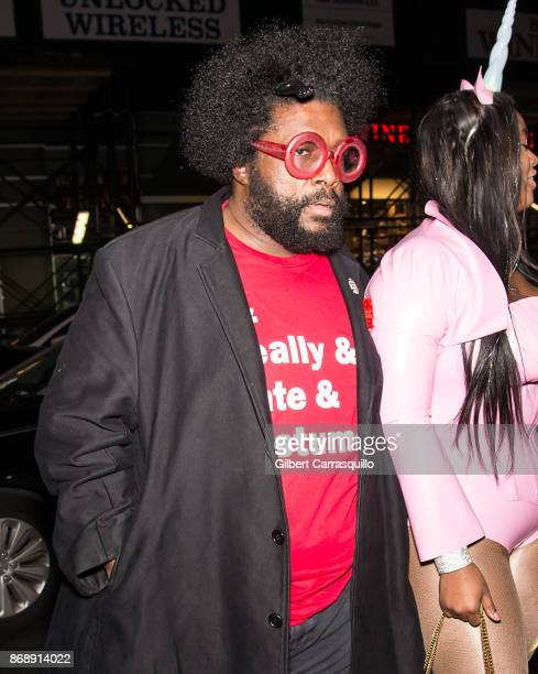 Questlove is seen during Heidi Klum's 18th Annual Halloween Party at Magic Hour Rooftop Bar Lounge on October 31 2017 in New York City
