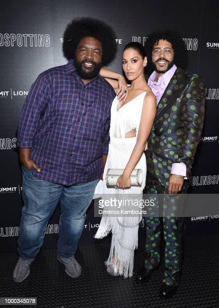 Questlove Janina Gavankar and Daveed Diggs attend the screening of Blindspotting hosted by Lionsgate at Angelika Film Center on July 16 2018 in New...
