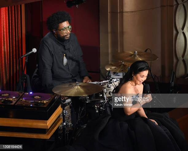 Questlove listens to Kelly Marie Tran speak onstage during the 92nd Annual Academy Awards at Dolby Theatre on February 09 2020 in Hollywood California