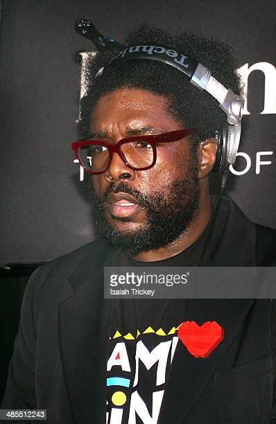 Questlove Of The Hip-Hop Group The Roots Appears at Tattoo Queen West on April 17, 2014 in Toronto, Canada.