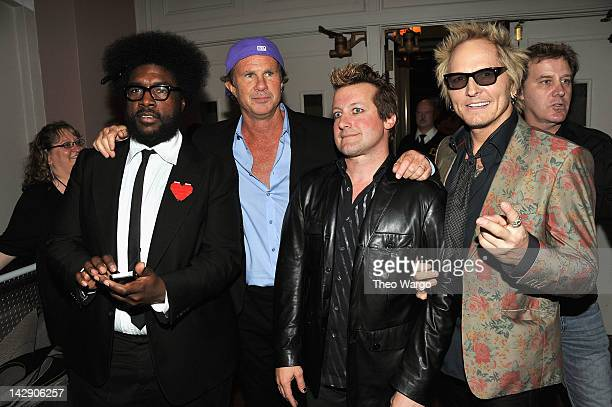 """Questlove of The Roots, Chad Smith of the Red Hot Chili Peppers, Frank Wright """"Tre Cool of Green Day, and Matt Sorum of Guns N' Roses attend the 27th..."""