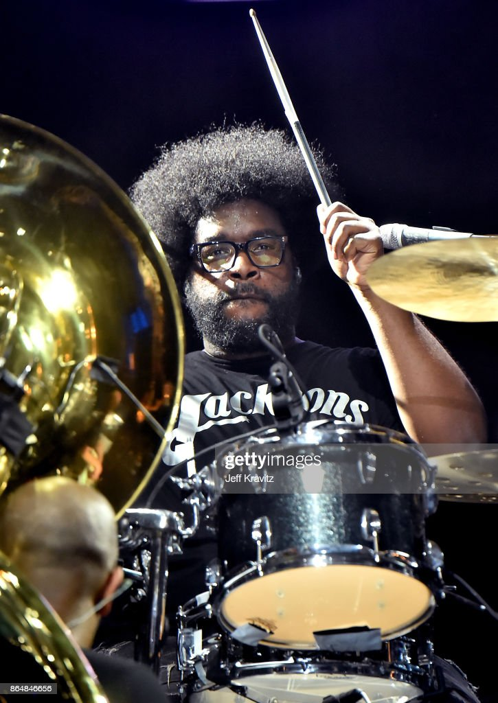 Questlove of The Roots performs at Camelback Stage during day 2 of the 2017 Lost Lake Festival on October 21, 2017 in Phoenix, Arizona.