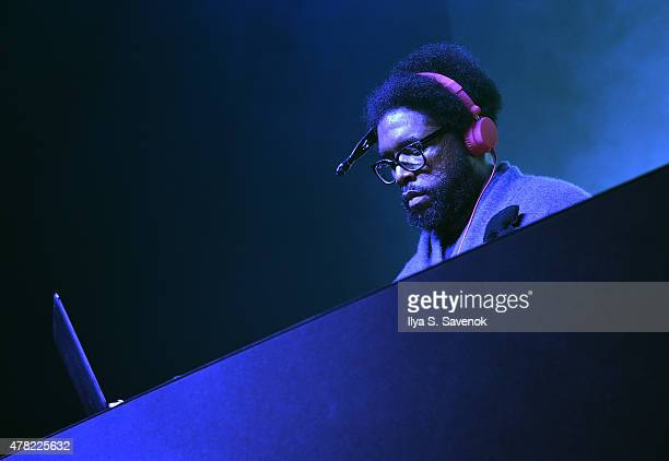 Questlove of The Roots performs on stage during the MercedesBenz 2015 Evolution Tour kickoff on June 24 2015 in New York City